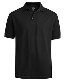 Edwards 1535 Men Cotton Pique Polo With Pocket