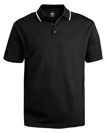 Edwards 1575 Men's Tipped Collar Dry-Mesh Hi-Performance Polo at bigntallapparel