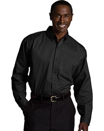 Edwards 1750 Men's Cottonplus Long Sleeve Twill Shirt at bigntallapparel