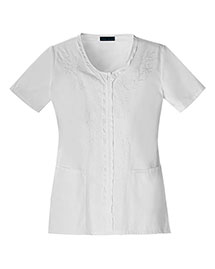 Cherokee 1848 Women V-Neck Embroidred Top
