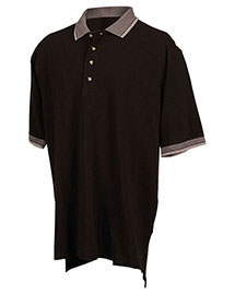 Tri-Mountain 196 Men Big And Tall Pique Polo Golf Shirt With Jacquard Trim