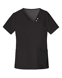 Cherokee 1999 Women Crossover Vneck Pintuck Top