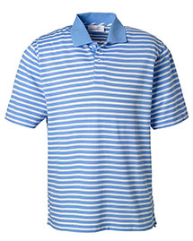 Ashworth 2048 Men Dual Tone Pique Stripe Polo at bigntallapparel