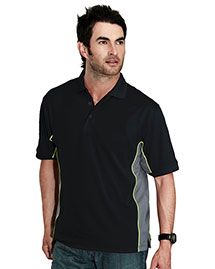 Tri-Mountain 226 Men 100% Polyester Tmr Knit Polo Shirt, W/ Rib Collar