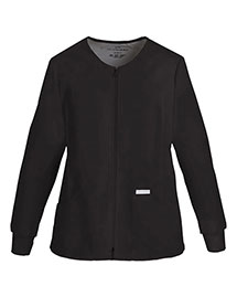 Cherokee 2306 Women Zip Front Knit Panel Warmup Jacket