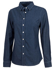 Charles River Apparel 2329 Women Straight Collar Chambray Shirt at bigntallapparel