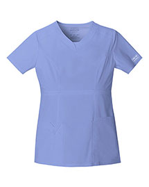 Cherokee Workwear 24703 Women Vneck Top