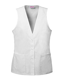 Cherokee 2610 Women Lace Trimmed Vest at bigntallapparel