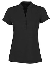 Charles River Apparel 2617 Women Shadow Stripe Mandarin Collar Polo