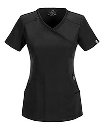 Cherokee 2625A Women Mock Wrap Top
