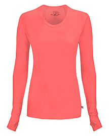 Cherokee 2626A Women Long Sleeve Knit Tee