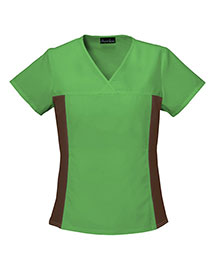 Cherokee 2874 Women Vneck Knit Panel Top