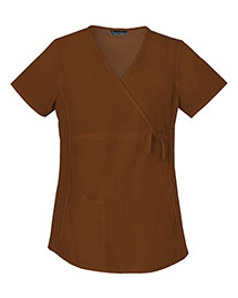 Cherokee 2892 Women Maternity Mock Wrap Knit Panel Top