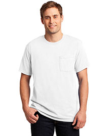Jerzees 29MP Unisex 50/50 Cotton/Poly Pocket T Shirt