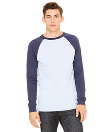 Bella 3000c Men Jersey Long-Sleeve Baseball T-Shirt