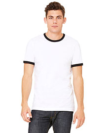 Bella 3055C Men Jersey Short-Sleeve Ringer T-Shirt