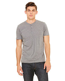 Bella 3125 Men Triblend Short-Sleeve Henley