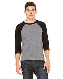 Bella 3200 Men  3/4-Sleeve Baseball T-Shirt