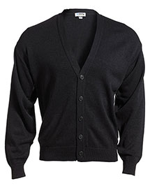 Edwards 351 Men  V-Neck Cardigan With Tuff-Pil Plus at bigntallapparel