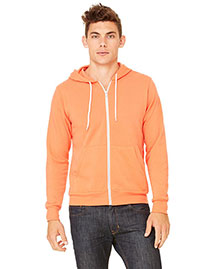 Bella 3739 Men  Poly-Cotton Fleece Full-Zip Hoodie
