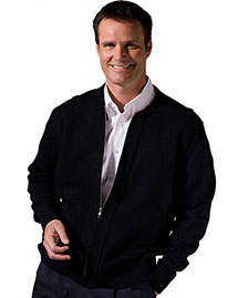 Edwards 381 Men  Cardigan Sweater With Two Pockets at bigntallapparel