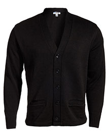 Edwards 383 Unisex Heavy Weight V-Neck Cardigan Sweater with Two Pocket at bigntallapparel