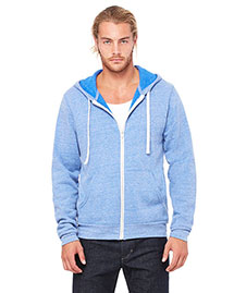 Bella 3909 Men  Triblend Sponge Fleece Full-Zip Hoodie