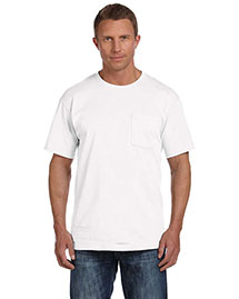 Fruit of the Loom 3931P Men  5.4 Oz. Heavy Cotton Pocket T-Shirt