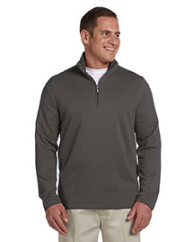 Ashworth 4019 Men French Terry Half-Zip Pullover at bigntallapparel