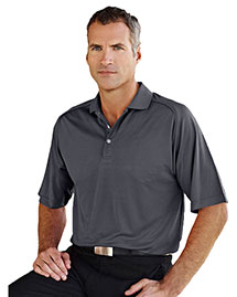 Tri-Mountain 404 Men 100% Polyester Knit Polo Shirt, Raglan Sleeve W/ Grid Pattern