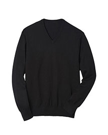 Edwards 4070 Men V-Neck  Fine Gauge Long Sleeve Pullover