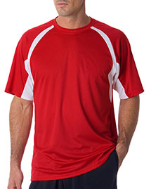 Badger 4144 Adult BCore ShortSleeve TwoTone Performance Hook Tee at bigntallapparel