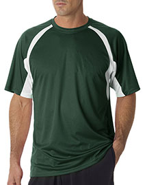 Badger 4144 Men Adult Bcore Shortsleeve Twotone Performance Hook Tee