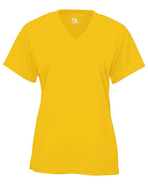 Badger 4162 BCore Ladies VNeck ShortSleeved Performance Tee at bigntallapparel