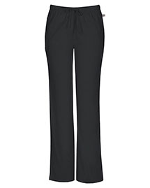 Cherokee Workwear 44101at Women Mid Rise Moderate Flare Drawstring Pant
