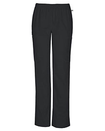 Cherokee Workwear 44200AT Women Mid Rise Straight Leg Elastic Waist Pant