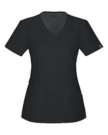 Cherokee Workwear 44801A Women Mock Wrap Top
