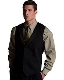 Edwards 4495 Men's Black Satin Shawl Vest at bigntallapparel