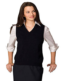 Edwards 461 Women V-Neck Jersey Vest With Tuff-Pil Plus at bigntallapparel