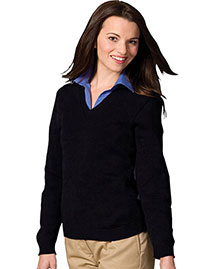 Edwards 465 Women V-Neck Sweater With Tuff-Pil Plus