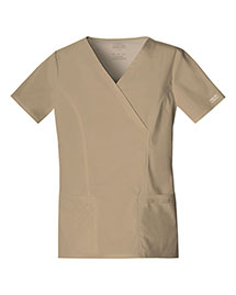 Cherokee Workwear 4728 Women Mock Wrap Top
