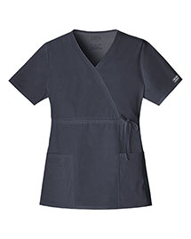 Cherokee Workwear 4758 Women Mock Wrap Top