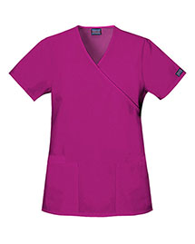 Cherokee Workwear 4801 Women Mock Wrap Tunic