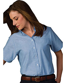Edwards 5027 Women's Short Sleeve Dress Button Down Oxford at bigntallapparel