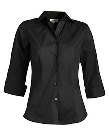 Edwards 5033 Women's Tailored 3/4 Sleeve Stretch Blouse at bigntallapparel