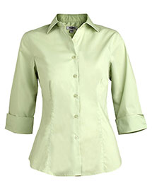 Edwards 5033 Women Tailored 3/4 Sleeve Stretch Blouse at bigntallapparel