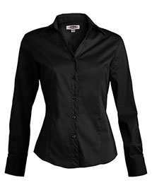 Edwards 5034 Women's Long Sleeve V-Neck Tailored Stretch Blouse at bigntallapparel