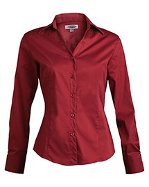 Edwards 5034 Women Long Sleeve V-Neck Tailored Stretch Blouse