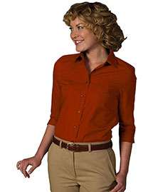 Edwards 5037 Women 3/4 Sleeve Soft Collar Poplin Blouse