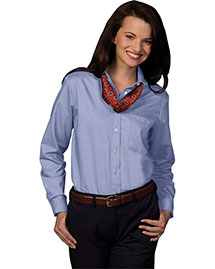 Edwards 5077 Women Long Sleeve Dress Button Down Oxford